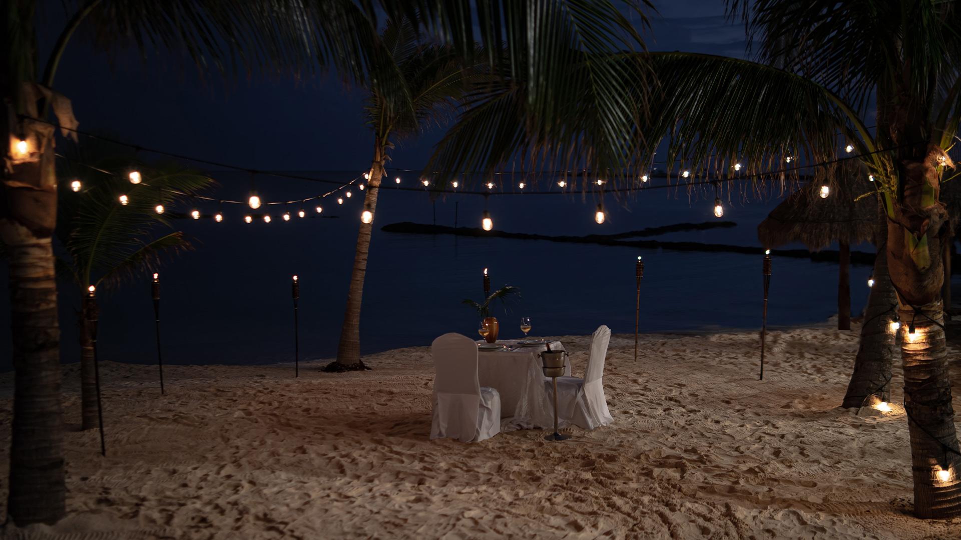 dinner-beach-puerto-aventuras-caribe